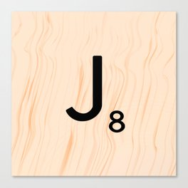 Scrabble Letter J - Large Scrabble Tiles Canvas Print