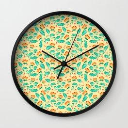 Bright florals Wall Clock