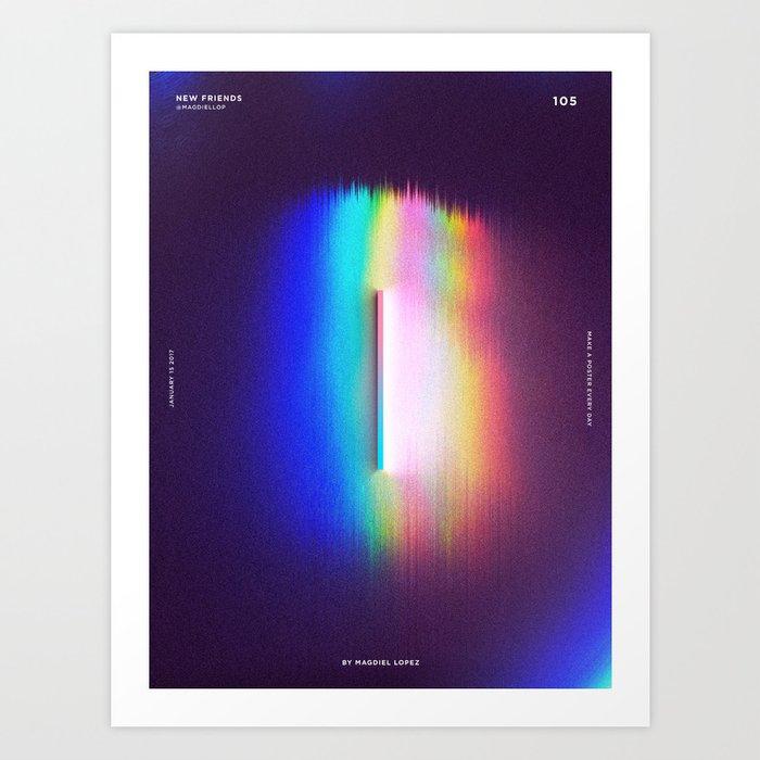 105 - New Friends Art Print