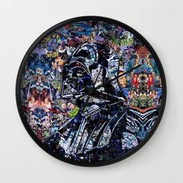 Collage Wars. Wall Clock