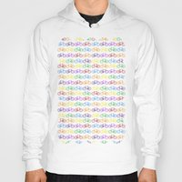 bicycles Hoodies featuring Colorful Bicycles by MICHELLE MURPHY