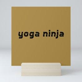 yoga ninja golden Mini Art Print