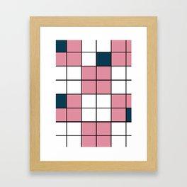 Pink Grid Framed Art Print