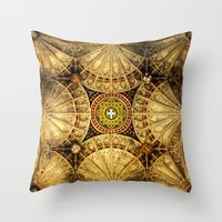 kaleidoscope Throw Pillows featuring Kaleidoscope by Irina Chuckowree