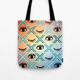 Original Colorful Eyes Design Tote Bag