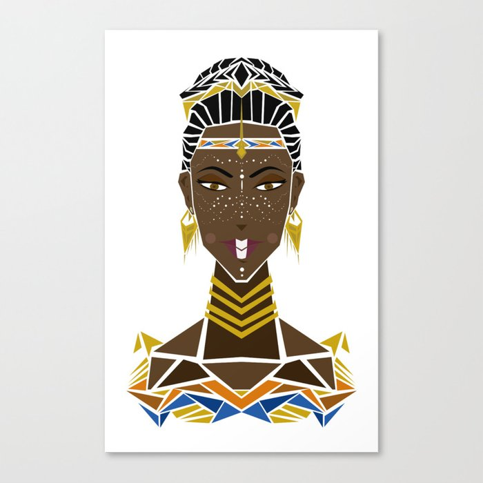 Tribal Princess Canvas Print
