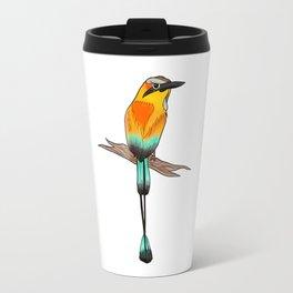 Motmot Bird Water Color & Ink Illustration Travel Mug