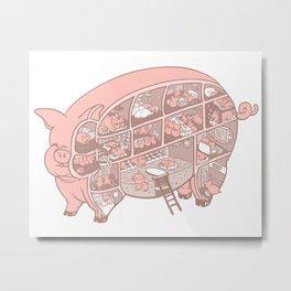 Pigtopia Metal Print