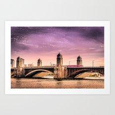 Longfellow Bridge, Boston MA Art Print