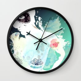 She's from another world Wall Clock