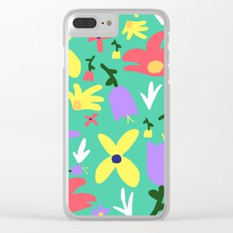Handmade Bright Spring Pop Art Print Clear iPhone Case
