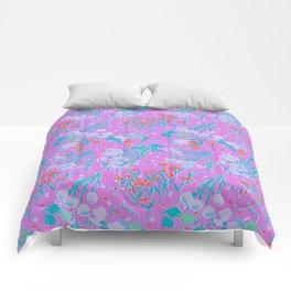 Midcentury Meadow in Magenta Comforters