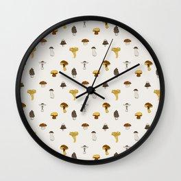 Mushroom Glaze Wall Clock