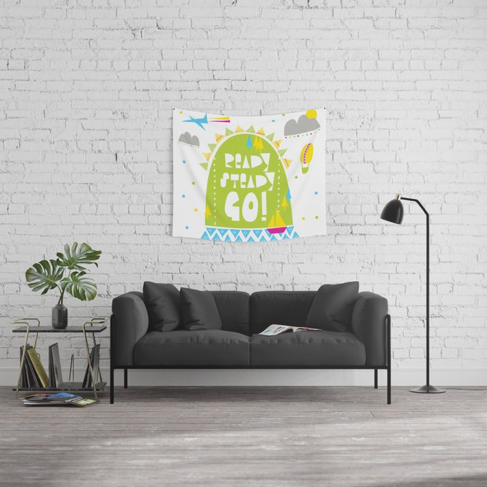 Ready Steady Go! Wall Tapestry
