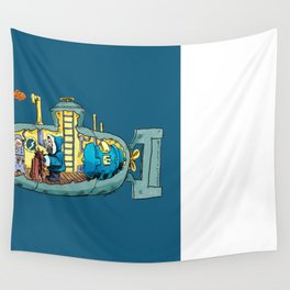 The Submarine of Dr. Khozan Wall Tapestry