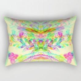Botanical Flower Glitch V Rectangular Pillow