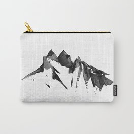 Mountain Painting   Landscape   Black and White Minimalism   By Magda Opoka Carry-All Pouch