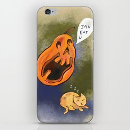 Kitty watch out! iPhone Skin
