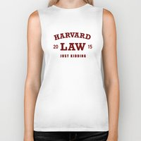 law Biker Tanks featuring HARVARD LAW by chankaieng