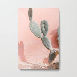 """Travel photography print """"pink cactus"""" botanical print Metal Print"""