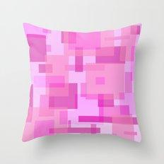 mod pink rectangles Throw Pillow