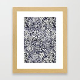 Lace on Nautical Navy Blue Framed Art Print