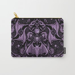 Bats and Beasts (Purple) Carry-All Pouch