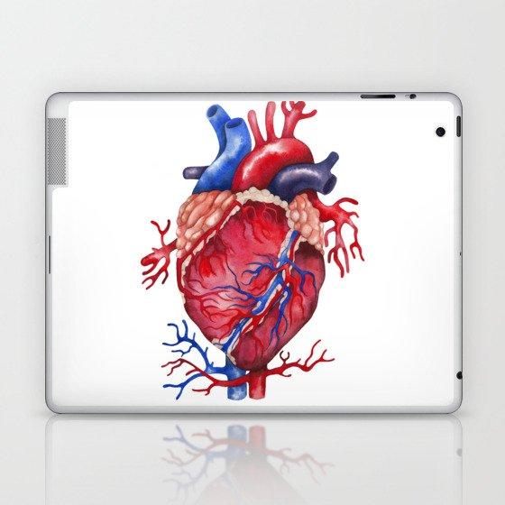 Watercolor heart Laptop & iPad Skin