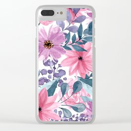 FLOWERS XII Clear iPhone Case
