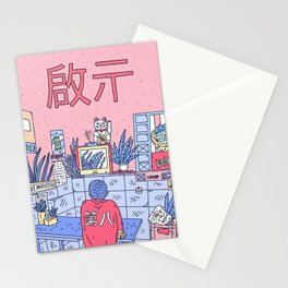 NEON ASIA PINK EDITION Stationery Cards