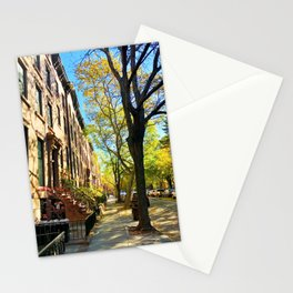 Cobble Hill Brooklyn New York in the Fall, Brownstones Stationery Cards