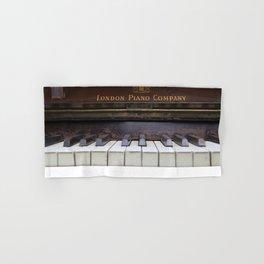 Piano keys Old antique vintage music instrument Hand & Bath Towel