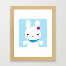 Super Cute Kawaii Bunny Framed Art Print