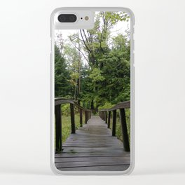 Twisted Wooden Bridge Clear iPhone Case