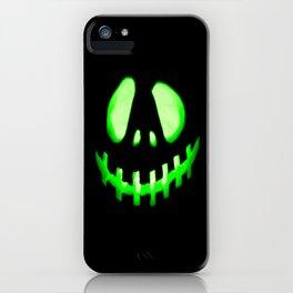 HALLOWEEN. Jack O Lantern : Green iPhone Case