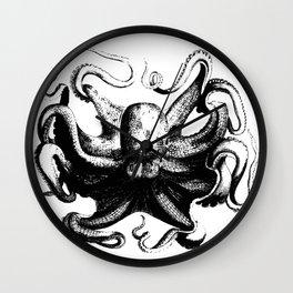 Cool Aqua animal Octopus sketch Wall Clock
