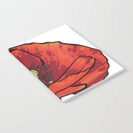 Orange Poppy Flower Notebook