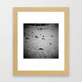 Dark Volcano Framed Art Print