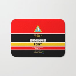 Southern Most Point, Key West, Florida/サザン・モスト・ポイント Bath Mat