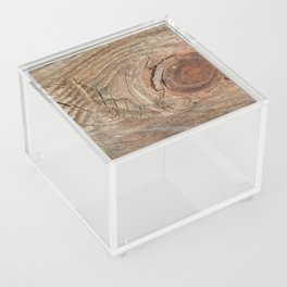 Wood with knot Acrylic Box