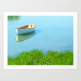 Serene boat scene#2 Art Print