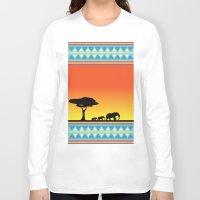 safari Long Sleeve T-shirts featuring Safari by gdChiarts