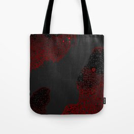 Atomic Bubbles - Red, Black, Drk Gray Tote Bag