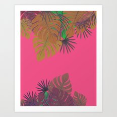Tropical leaves 05 Art Print
