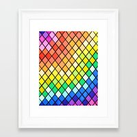 pantone Framed Art Prints featuring Geo-Pantone by Aries Art