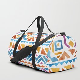 Geometric colorful Watercolor Pattern Duffle Bag