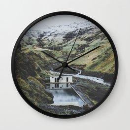 Seljavallalaug, Iceland Wall Clock