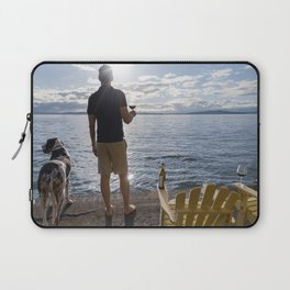 Sea View with Wine Laptop Sleeve
