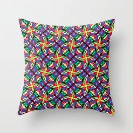 Funky Festival Geo - Festival Geometric Pattern 1 Throw Pillow