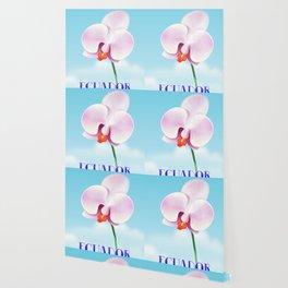 Ecuador Orchid travel poster print, Wallpaper